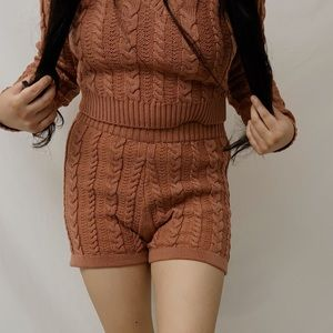 ONLY 1 SHORT LEFT - Knitted Fitted Shorts